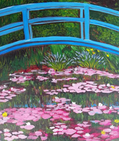 Monet Inspired Water Lilies – Wednesday 22 April 2020 – 10:00 AM – 12:00 PM