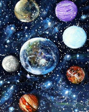 School Holiday Workshop – Paint the Planets – Oct 8 – Afternoon Session 12.00pm-3.00pm