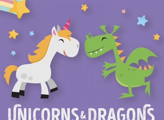 UNICORNS AND DRAGONS- Friday 24 April 2020 10:00 AM – 12:00 PM – CREATIVE KIDS VOUCHER ACCEPTED