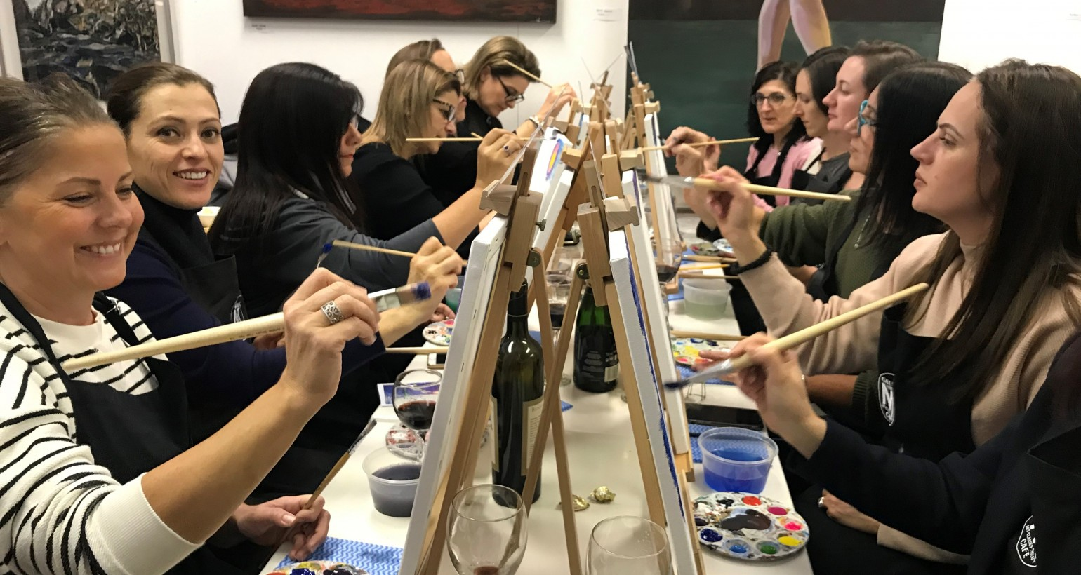 Adult Art Parties, Team Building Events and Private Parties – Any Occasion.